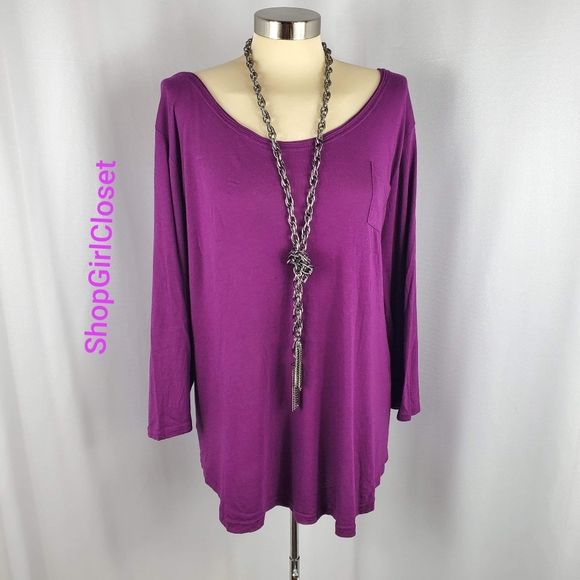 💥Just In💥Lane Bryant 3/4 Sleeve Tunic..Sz 22/24